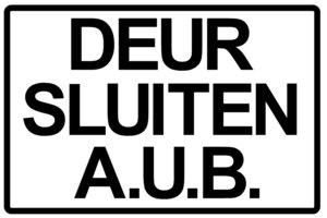 XL Sticker Deur sluiten A.U.B.