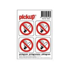 Pictogram sticker verboden te roken (4 stuks)