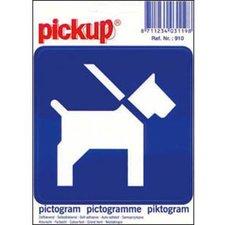 Pictogram sticker Honden aan de lijn