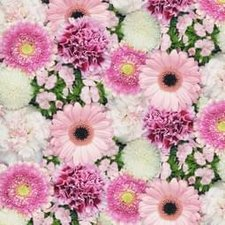 Plakfolie foto print bloemen roze (45cm)