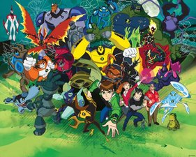 Posterbehang Walltastic Ben 10 alienforce