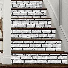 Trapstickers stenen muur (6 stroken)