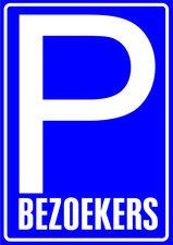XL Sticker parkeerplaats bezoekers