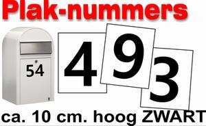 XL huisnummer/container stickers Zwart 20CM