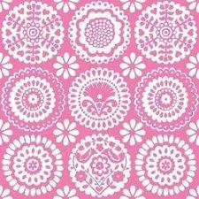 Kitsch Kitchen plakfolie Paloma roze 200x45cm