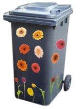 Container stickers bloemen