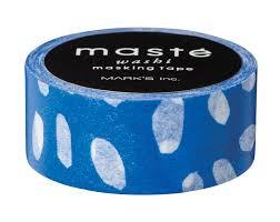 Masking tape Masté Marine blauw met druppels