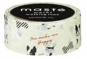 Masking tape Masté Franse bulldog