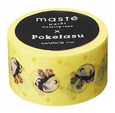 Masking tape Masté pandaberen geel