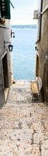 SALE: Muursticker/deursticker trap naar de zee 50x200cm (BxL)