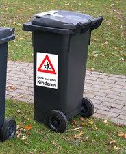 Kliko sticker 'Denk aan onze kinderen'