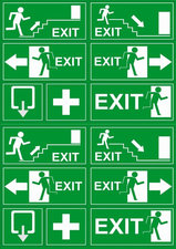 Stickervel EXIT