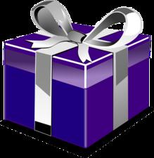 Kerst sticker - Cadeau