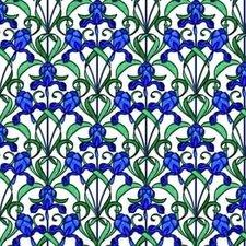 700cm aan coupons: Raamfolie blauwe bloemen (45cm)
