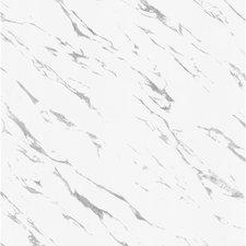 Plakfolie marmer wit glossy (122cm breed)