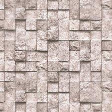 Plakfolie stenen grijs mat (122cm breed)