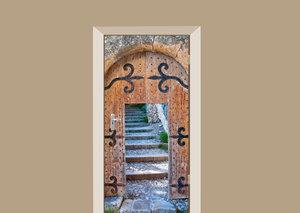 Deursticker houten poort