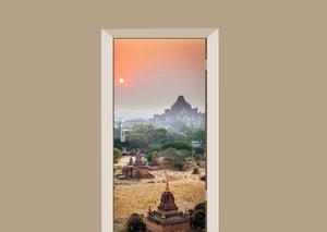 Deursticker tempels in Azië