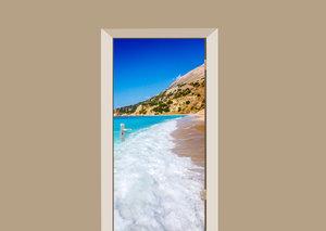 Deursticker strand