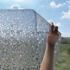 Statisch raamfolie rondjes 46cm (geschikt voor dubbel, HR+ en HR++ glas)