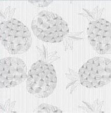 Kitsch Kitchen plakfolie transparant ananas grijs 200x45cm