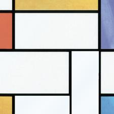 700cm aan coupons: Raamfolie Mondriaan (45cm)
