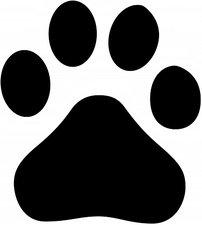 Autosticker hondenpoot div. kleuren