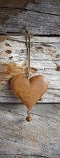 SALE: Deursticker hartje roest op houten schuur 60x205cm (BxL)