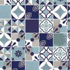 Plakfolie Spaanse tegeltjes blauw (45cm)