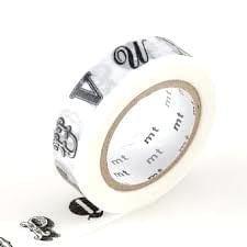 MT Masking tape alphabet black