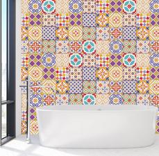 Tegelstickers Marokkaans kleurrijk 24 stuks (15x15 cm)