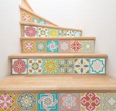 Tegelstickers Malia kleurrijk 24 stuks (15x15 cm)