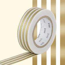 MT Masking tape border gold-2