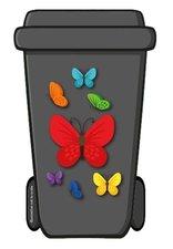 Containerstickers vlinders