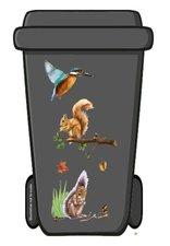 Containersticker eekhoorn/vogel