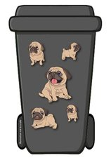 Containerstickers puppy hondje