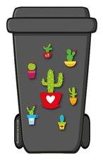Containerstickers cactus planten