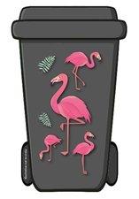 Containerstickers flamingo roze