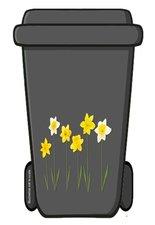 Containersticker bloemen narcissen