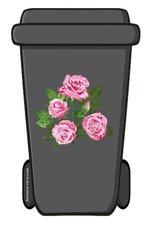 Containersticker rozen bloem