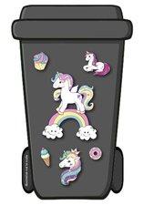 Containerstickers unicorn regenboog