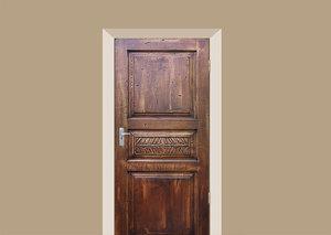 Deursticker vintage deur hout