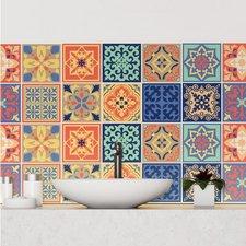 Mediterraanse Tegelstickers 24 stuks (15x15 cm)