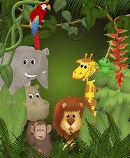 Tegelsticker dieren in het bos 15x15cm
