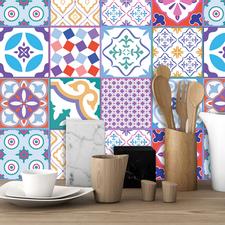 Colourful Moroccan Tegelstickers 24 stuks (15x15 cm)