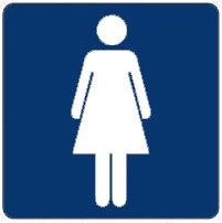 Pictogram sticker Damestoilet