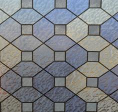 Statisch raamfolie glas in lood paars/blauw/fluoriet (45cm)