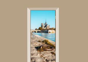 Deursticker Notre-Dame Parijs