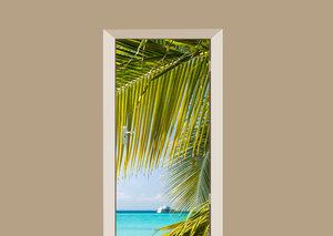 Deursticker palmbladeren