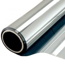 Zonwerend raamfolie voor HR++ glas zilver (140cm)